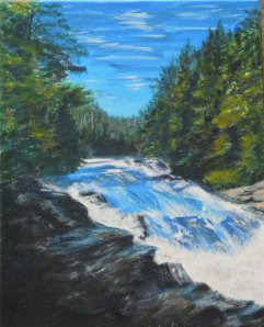 2013-15-wilson-falls-acrylic-8-x-10- Copyright-wendie-donabie-2013