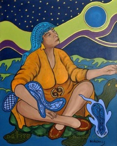 Nokomis - the Great Mother - original artwork by Norval Morrisseau