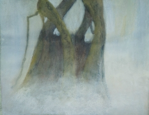 Guardians in the Mist, Watercolour & Soft Pastel,  8 x 10,   Copyright Wendie Donabie 2013