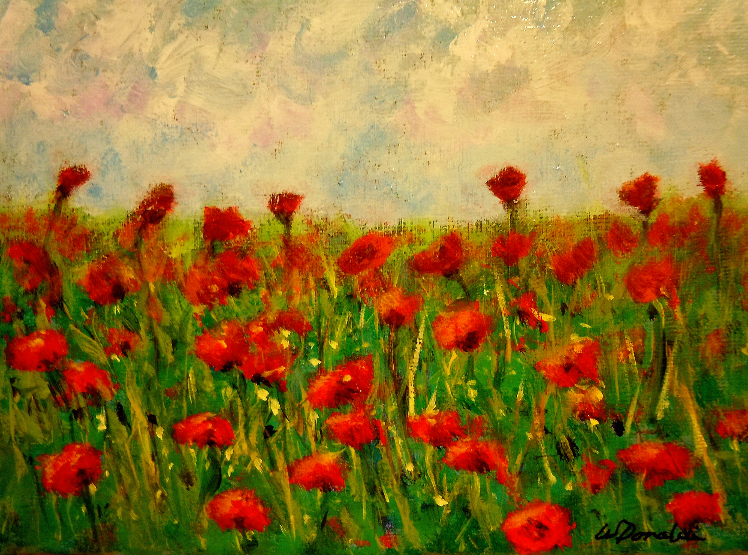 Painting Poppies The Process Blue Heron Writes