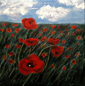 2013-38 Remember, Acrylic on Canvas, 6x6 ins, Copyright Wendie Donabie