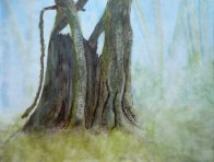 2013-3 Guardian of the Forest, Waterolour & Ink, 9x11.5 - copyright Wendie Donabie 2013
