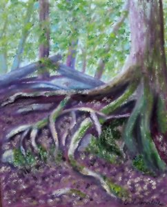 2014-2 Firmly Rooted - Enchantment #3, Oil on Canvas, 10 x 8 inches, Copyright Wendie Donabie 2014