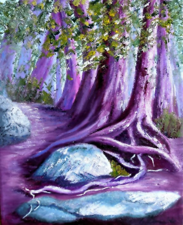 Enchanted #2, Oil on Canvas, 10 x 8 inches, Copyright Wendie Donabie