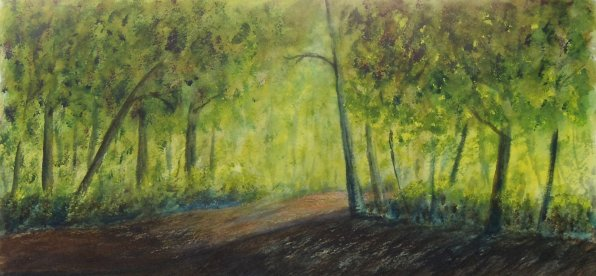 Morning Has Broken, Acrylic on Watercolour Paper, 7.5 x 14 inches, Framed, Copyright Wendie Donabie