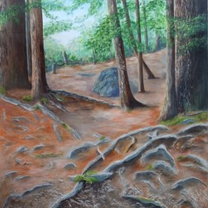 Woven Path, Acrylic on Canvas, 40 x 30 inches, Copyright Wendie Donabie