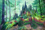 Forest in Transition, Acrylic on Canvas, 20 x 30 inches, Copyright Wendie Donabie