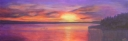 3699 - Muskoka Sunset #7, Acrylic on Canvas, 8 x 24 inches, Copyright Wendie Donabie