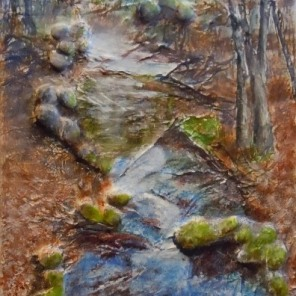 Rock, Paper, Scissors: Collaboration - It's a Draw, Mixed Media, 12 x 24 inches, Copyright Wendie Donabie