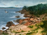 3715 - Memories of Cape Breton, Oil on Canvas, 16 x 20 inches, Copyright Wendie Donabie