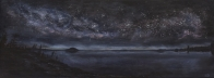 3716 - River of Heaven, Acrylic on Canvas, 16 x 48 inches, Copyright Wendie Donabie