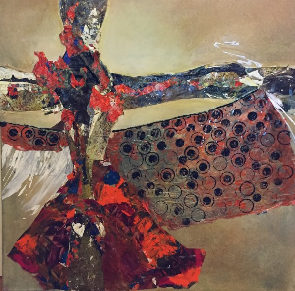 Mikado, Acrylic Skins, 24 X 24 inches Copyright '4' Collaboration - Wendie Donabie, Janice Feist, Lynda Lynn, Pat Whittle
