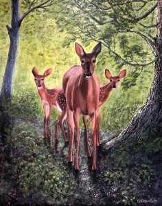Magical Moment, Acrylic on Canvas, 20 x 16 inches, Copyright Wendie Donabie