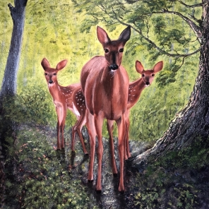 3770 - Magical Moment, Acrylic on Canvas, 20 x 16 inches, Copyright Wendie Donabie
